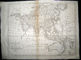 Bowen C1790 Folio Antique Map. Asia incl Australia New Holland